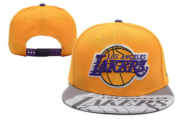 Los Angeles Lakers Black Snapback Hat XDF