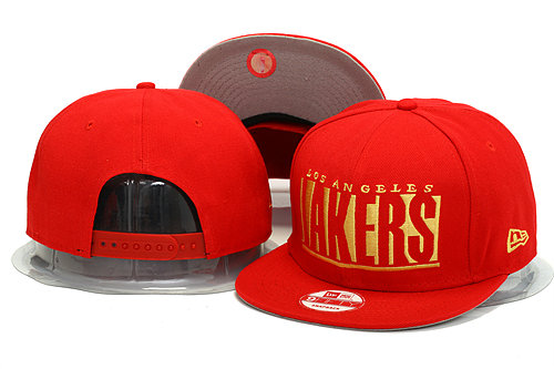 Los Angeles Lakers Red Snapback Hat YS 0613