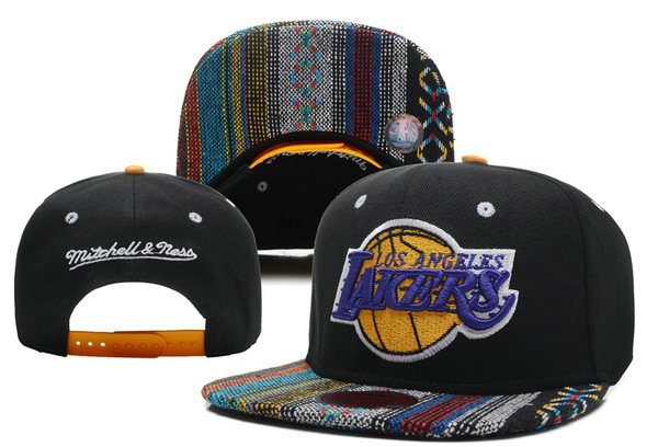 Los Angeles Lakers Black Snapback Hat XDF 0721