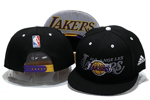 Los Angeles Lakers Black Snapback Hat YS 0721