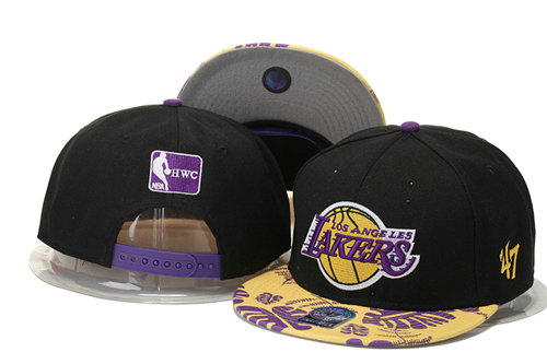 Los Angeles Lakers Snapback Black Hat 2 GS 0620