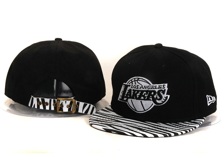 Los Angeles Lakers Black Snapback Hat YS