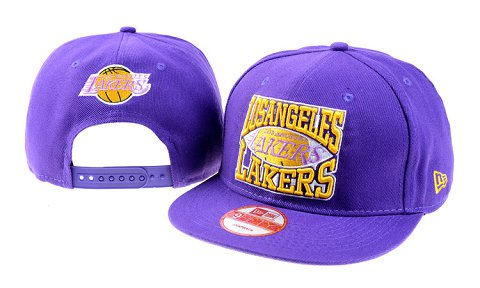 Los Angeles Lakers NBA Snapback Hat 60D05