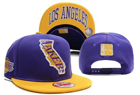 Los Angeles Lakers NBA Snapback Hat XDF298