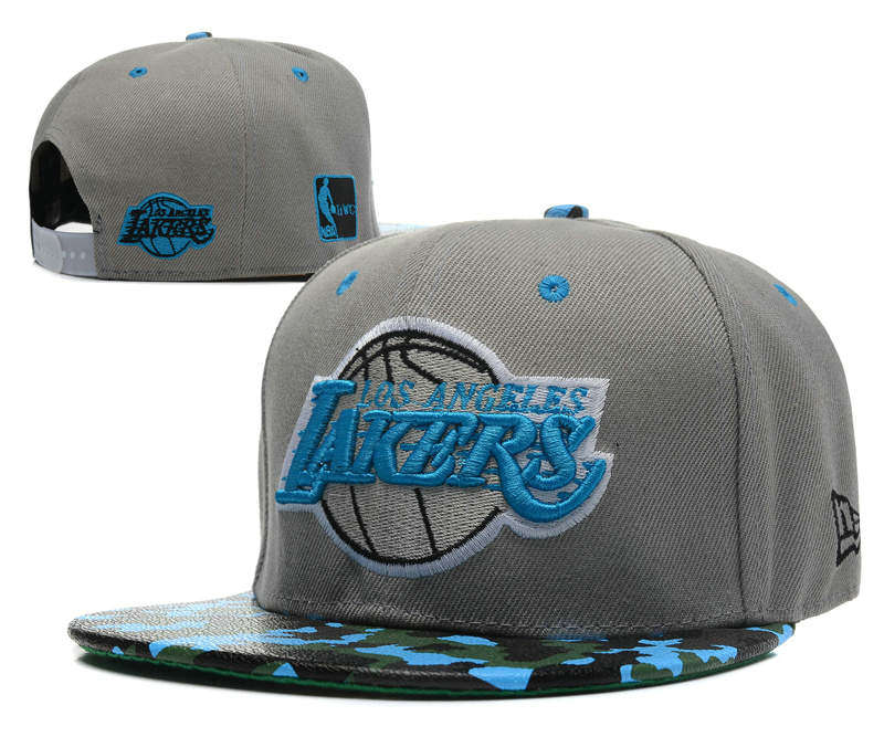 Los Angeles Lakers Grey Snapback Hat SD 0512