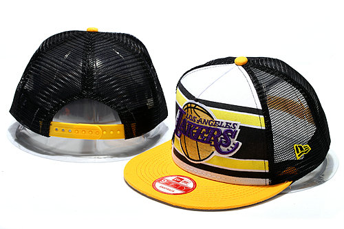 Los Angeles Lakers Mesh Snapback Hat YS1 0512