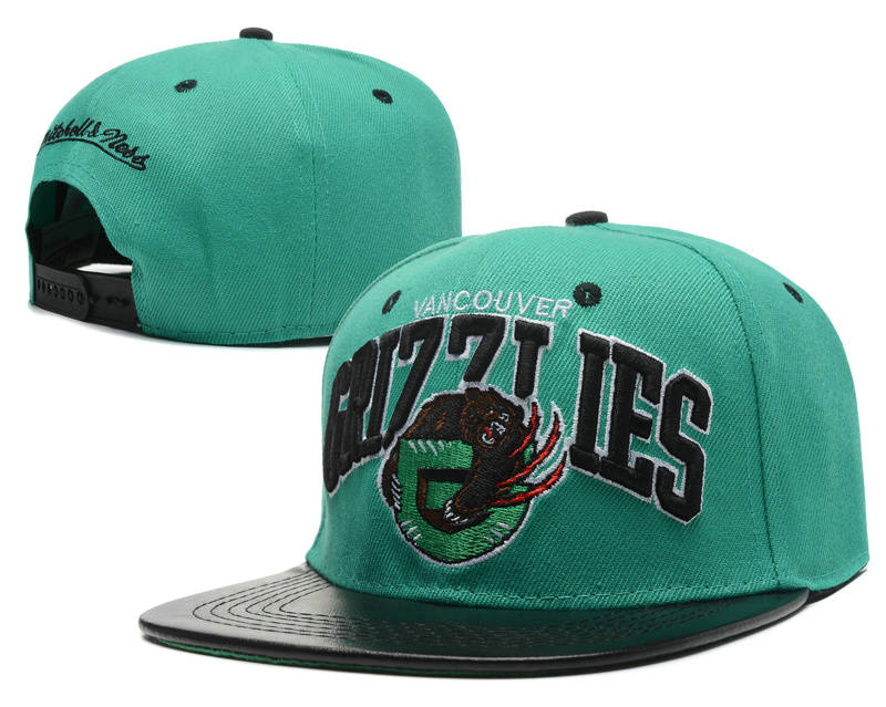 Memphis Grizzlies Green Snapback Hat SD 0512