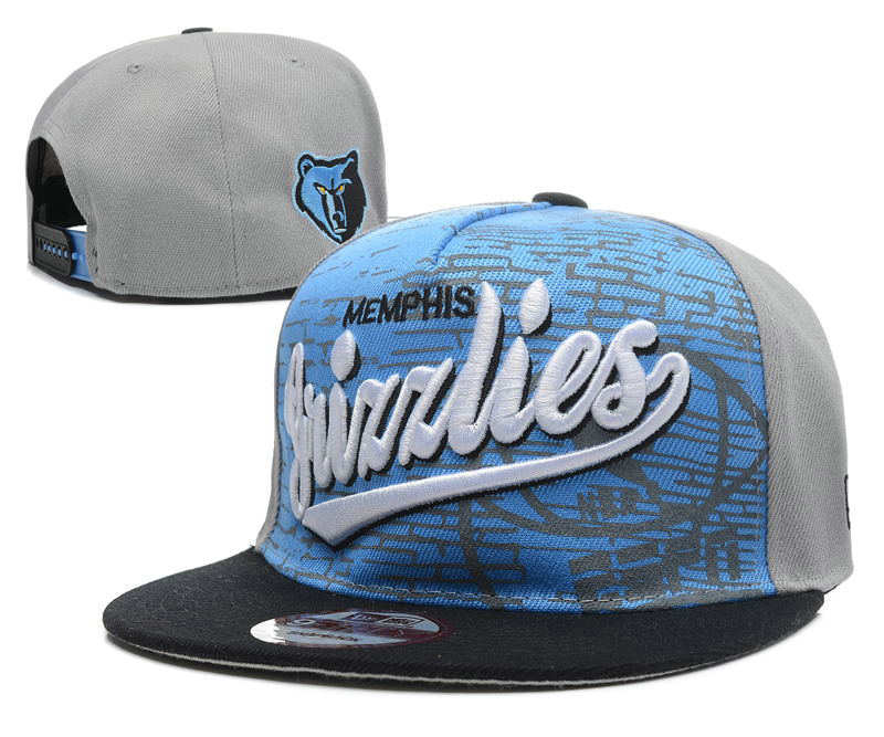 Memphis Grizzlies Grey Snapback Hat DF 0512