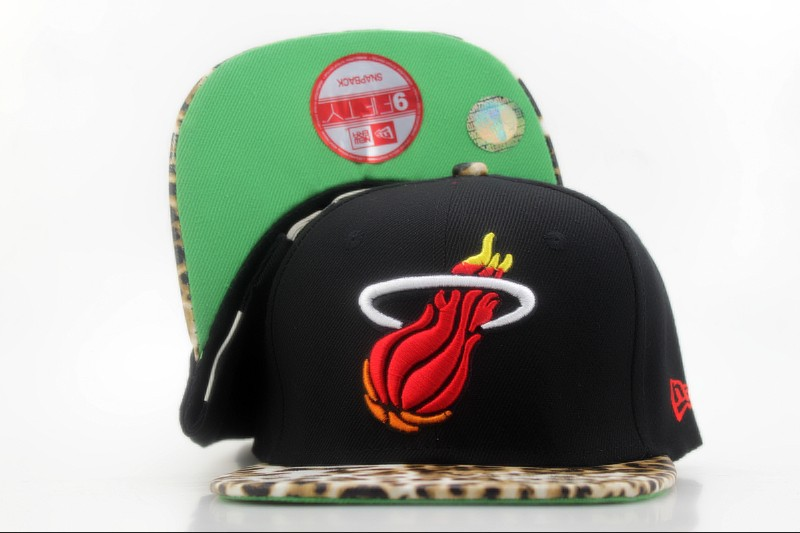 Miami Heat Snapback Hat QH 1