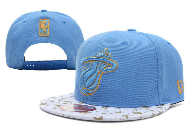 Miami Heat Blue Snapback Hat XDF