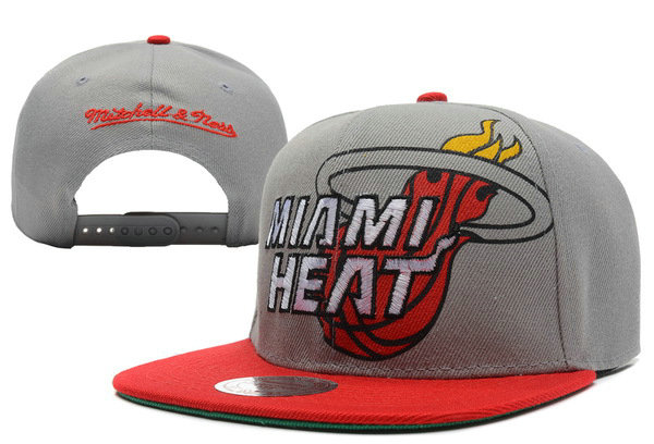 Miami Heat Grey Snapback Hat XDF 5