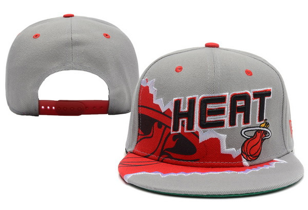 Miami Heat Grey Snapback Hat XDF 6