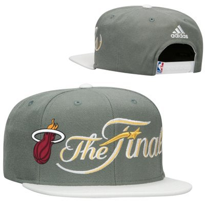 Miami Heat Grey Snapback Hat SF 0606