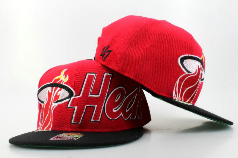 Miami Heat Snapback Hat QH 0606