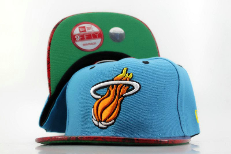Miami Heat Blue Snapback Hat QH
