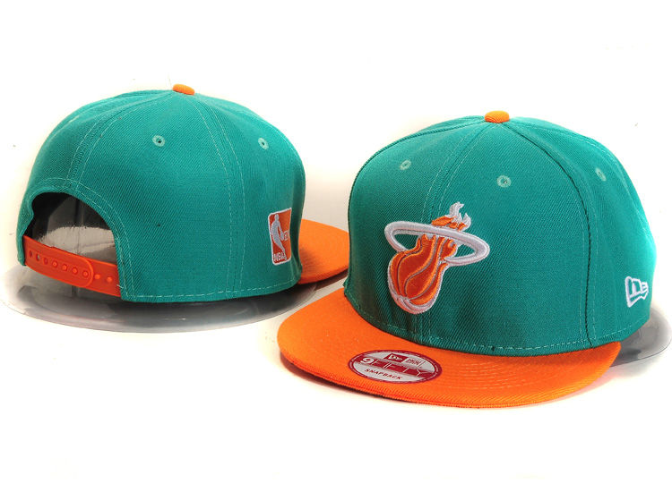 Miami Heat Green Snapback Hat YS