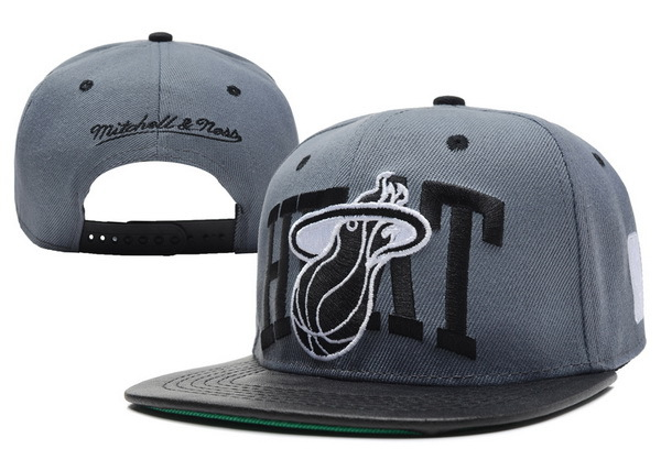 Miami Heat Grey Snapback Hat XDF 1