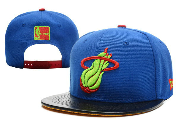 Miami Heat Blue Snapback Hat XDF 0701