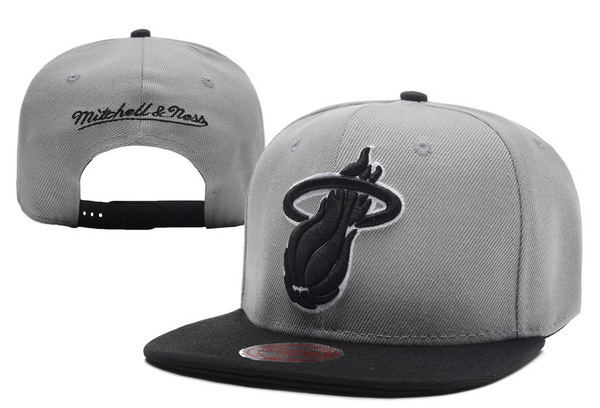 Miami Heat Grey Snapback Hat XDF 0701