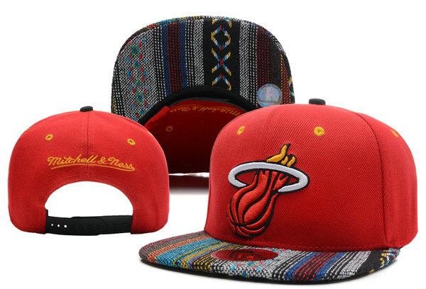 Miami Heat Snapback Hat XDF 2 0701