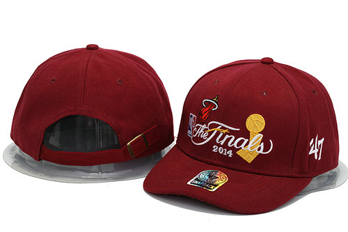 Miami Heat The Finals Red Snapback Hat YS 0701