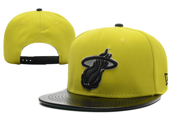 Miami Heat Yellow Snapback Hat XDF 0701