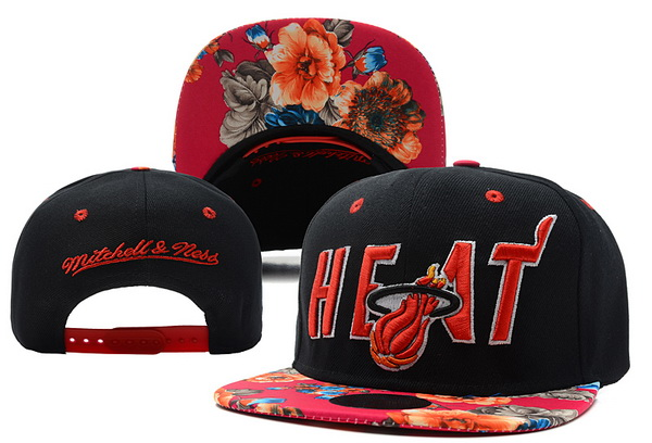 Miami Heat Snapback Hat XDF 4