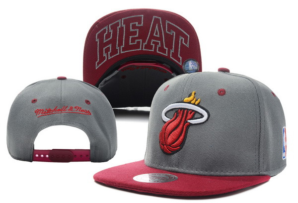 Miami Heat Grey Snapback Hat XDF