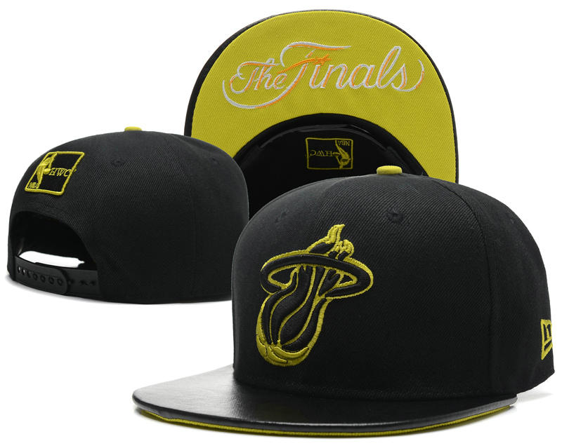 Miami Heat The Finals Black Snapback Hat SD 3 0617