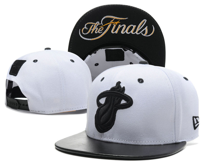 Miami Heat The Finals White Snapback Hat SD 0617
