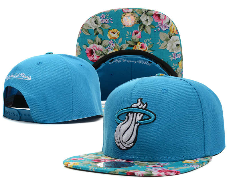 Miami Heat Blue Snapback Hat SD