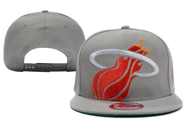 Miami Heat Grey Snapback Hat XDF 4