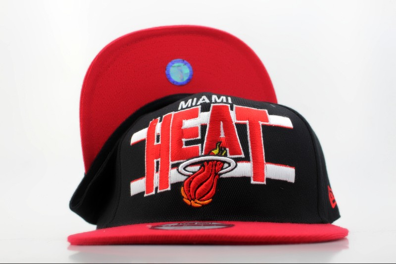 Miami Heat Snapback Hat QH 3