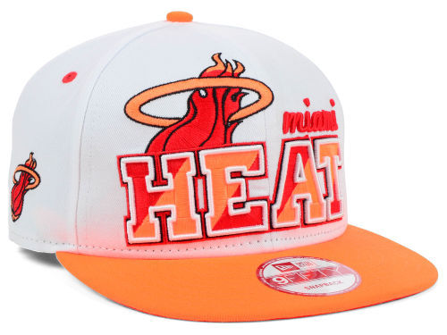 Miami Heat White Snapback Hat SD 1