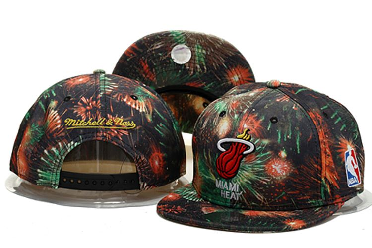 Miami Heat Snapback Hat 0903 (2)