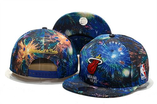 Miami Heat Snapback Hat 0903 (4)