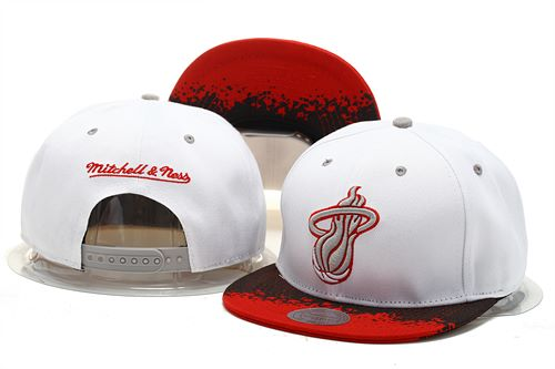 Miami Heat Snapback Hat 0903 (5)