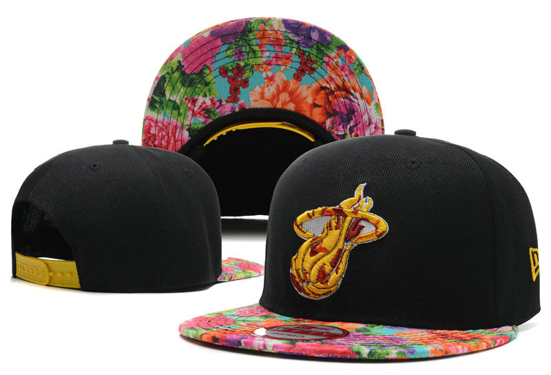 Miami Heat Snapback Hat DF 7 0613