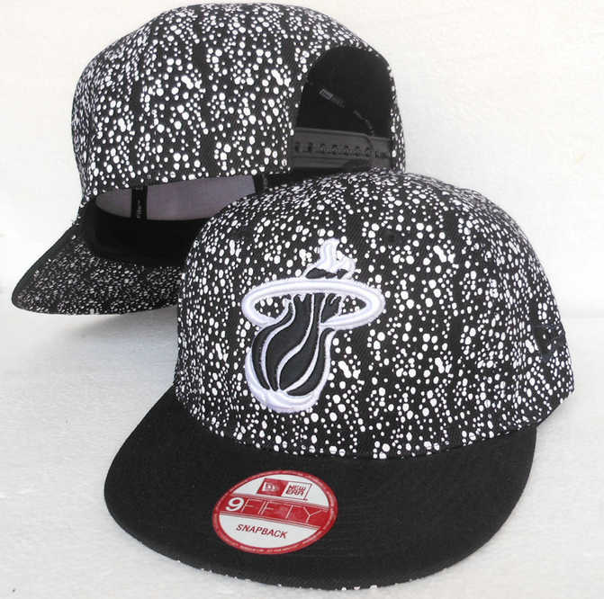 Miami Heat Snapback Hat SJ 2 0613