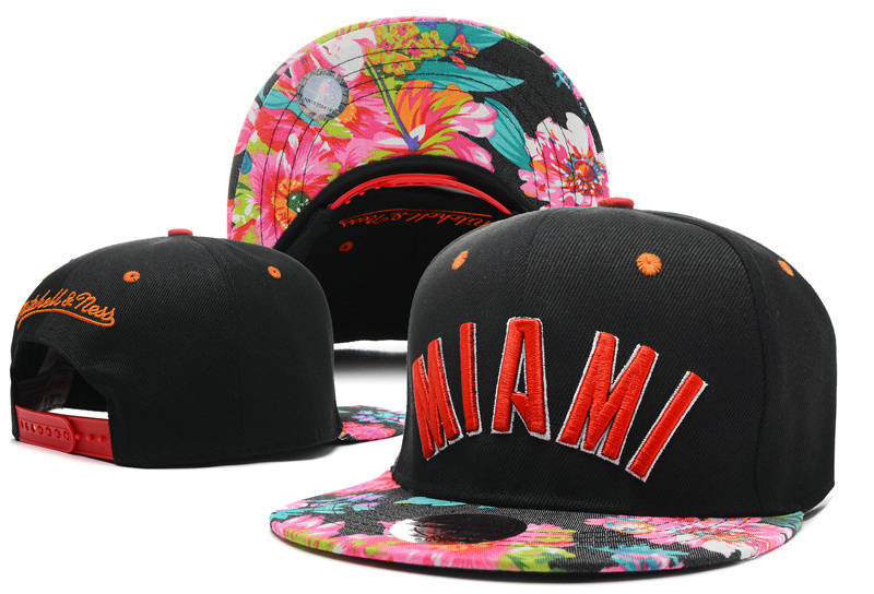 Miami Heat Snapback Hat DF 1 0721