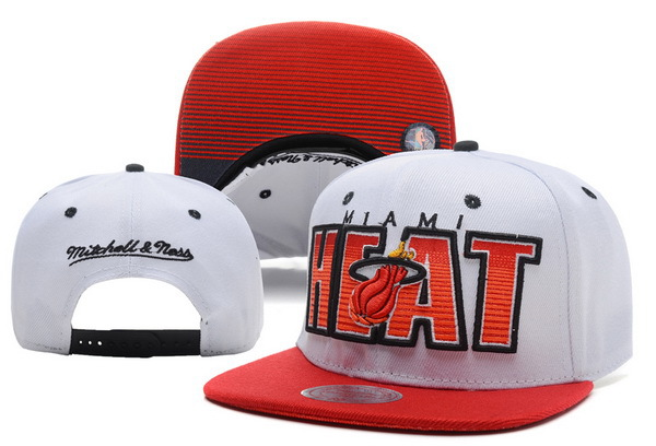 Miami Heat White Snapback Hat XDF 0721