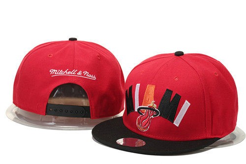 Miami Heat Snapback Red Hat 1 GS 0620