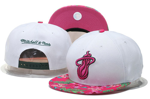 Miami Heat Snapback White Hat 2 GS 0620