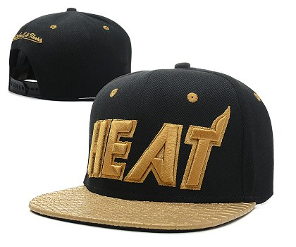 Miami Heat Snapback Hat SD 6R13
