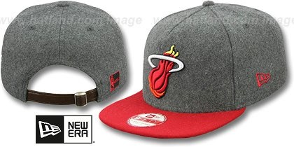 Miami Heat-Melton Snapback Hat SF 12