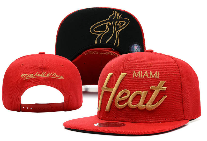 Miami Heat Snapback Hat XDF 14