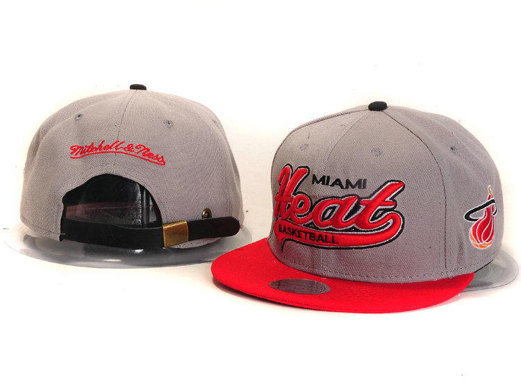 Miami Heat Grey Snapback Hat YS