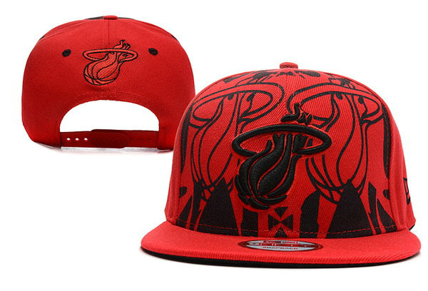 Miami Heat Snapback Hat XDF 1