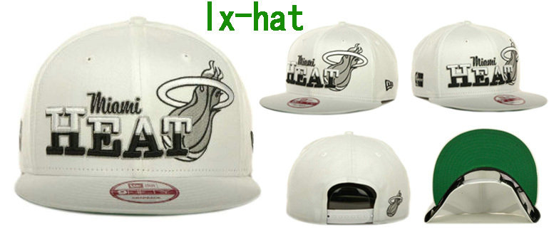 Miami Heat White Snapback Hat GF