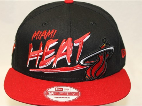 Miami Heat NBA Snapback Hat 60D15